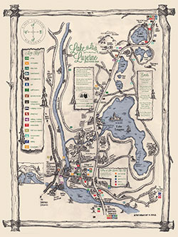Lake Luzerne Activities Map