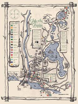 Lake Luzerne Activities Map
